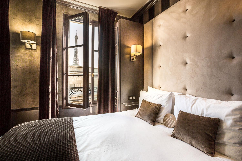 Chambre de luxe avec vue hotel eiffel trocadero paris for Chambre de luxe hotel